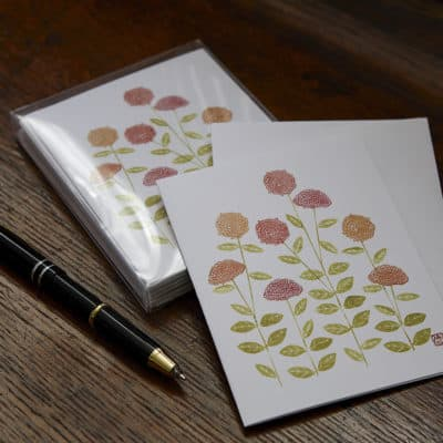 Zinnia Note Card