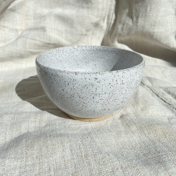 Speckled Bright White Bowl