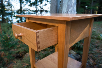 The Peaks Point Side Table - Solid Cherry
