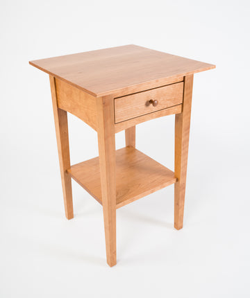 peaks point side table - handmade furniture - all american cherry - wood