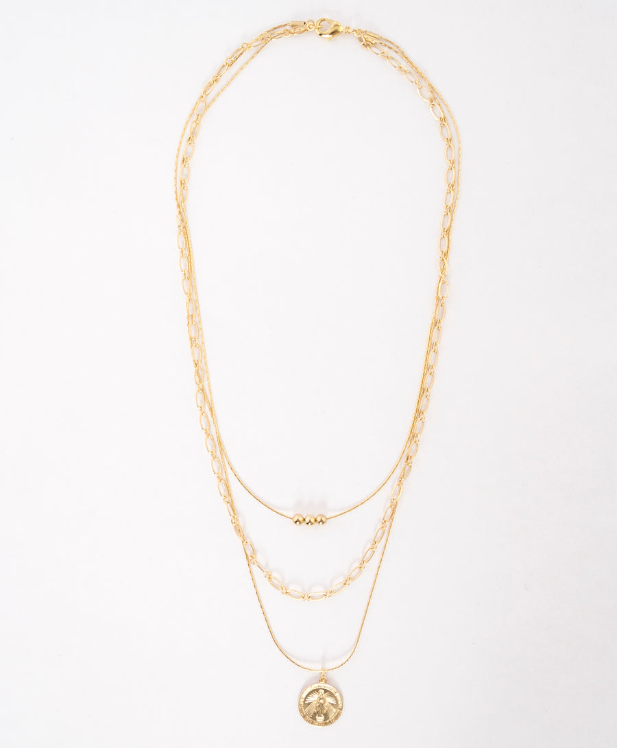 multi strand necklace - delicate gold chains