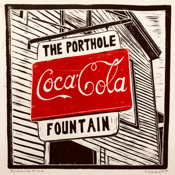 Summertime by David Connor - The Porthole, Portland, ME - Relief printmaking