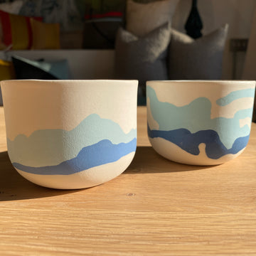 Blue Mountain Ceramic Cups