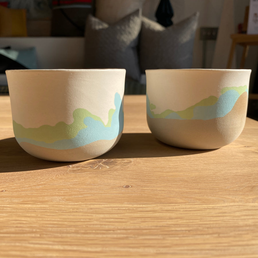 Green Mountain Ceramic Cups