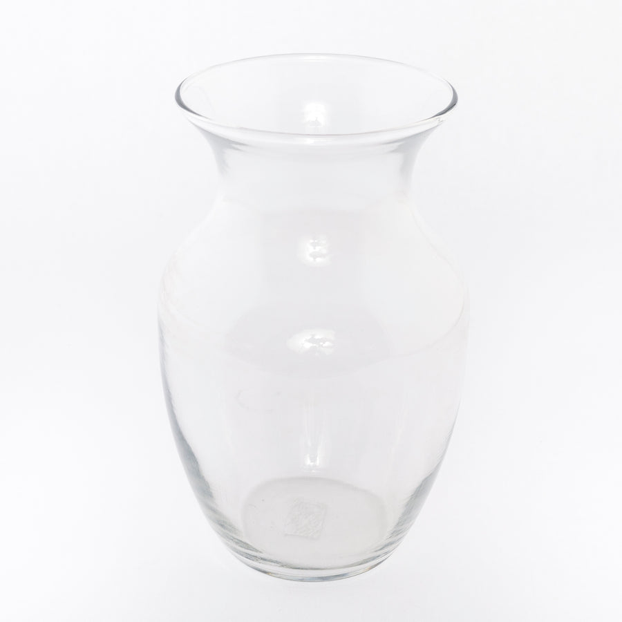 curved glass vase - vintage - lifestyle: Beckett Street - household - decor - flowers