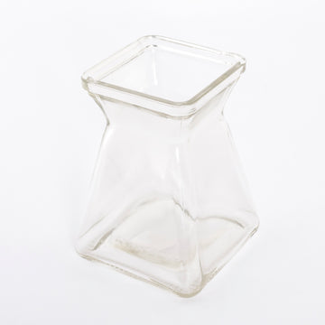 squared glass vase - flowers - home goods - decor - vintage - found products