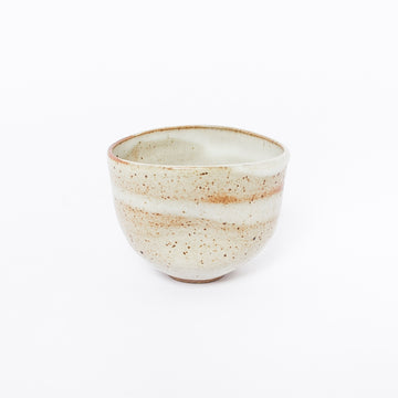 Dimple Cup in White + Brown
