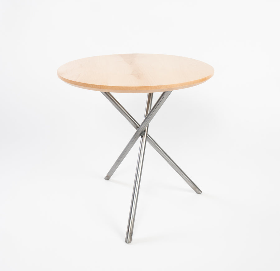 Higgins side table in maple - handmade in Maine - Higgins Fabrication - locally made furniture
