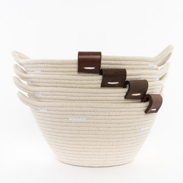 Rope Bowls with Leather Tab