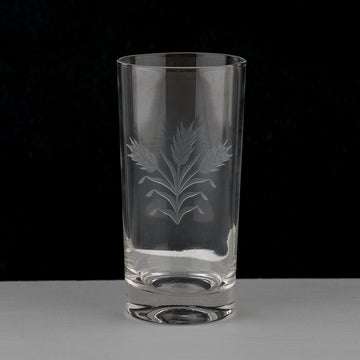 Etched Tall Glasses