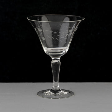 Etched Vintage Cocktail Glasses
