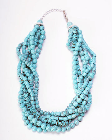 Faux Turquois Beads 6 Strand