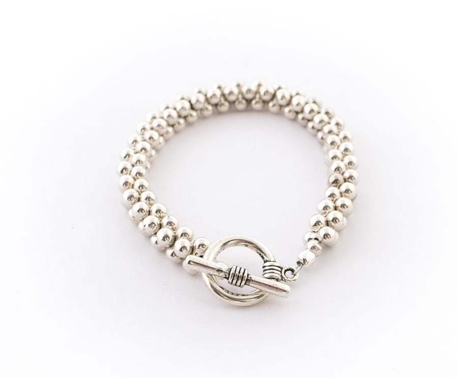 Pewter Ball Bracelet