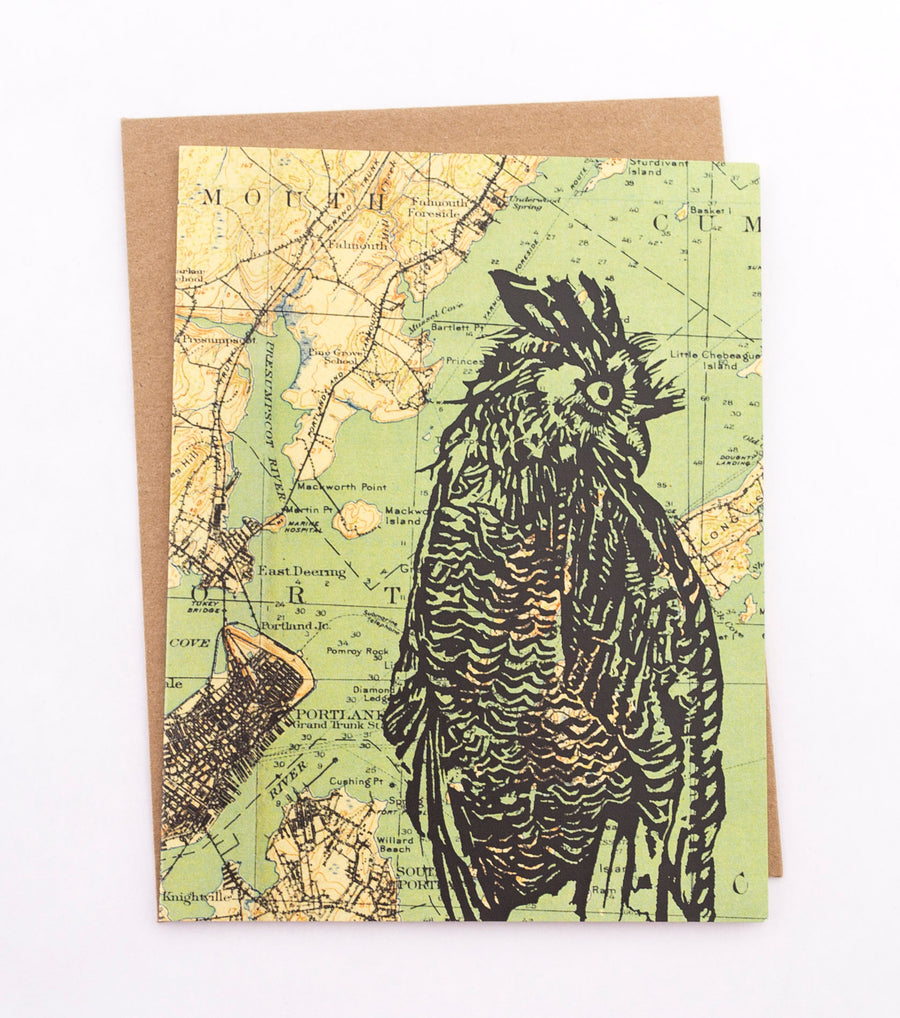 Owl Profile - greeting card