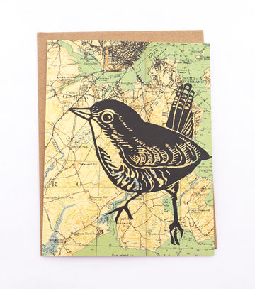 Bluebird - greeting card