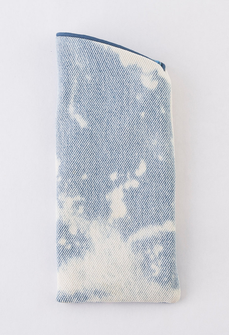 Glasses Case - jeans - blue trim