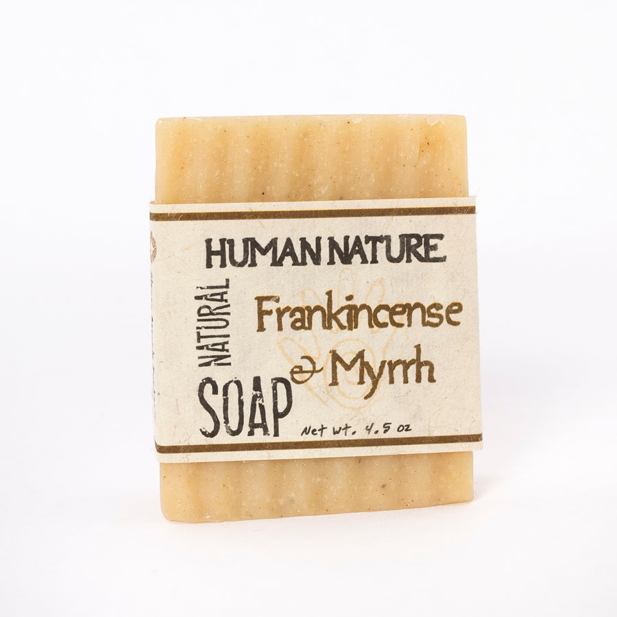 frankincense and Myrrh essential oil soap - naturally scented soap