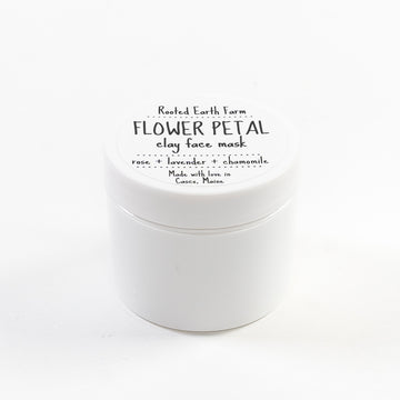 flower petal clay face mask - locally made apothecary