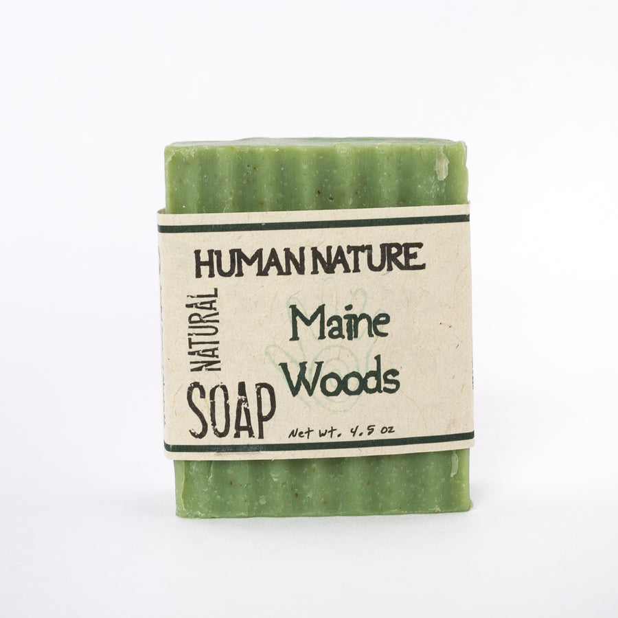 Maine woods essential oil soap - human nature