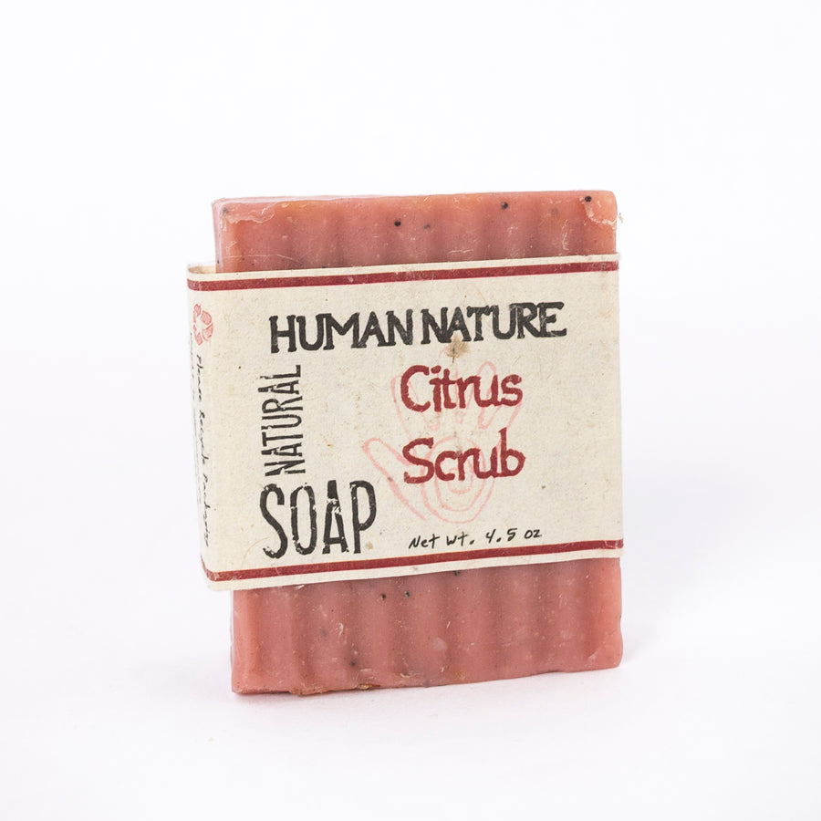 citrus scrub essential oil soap