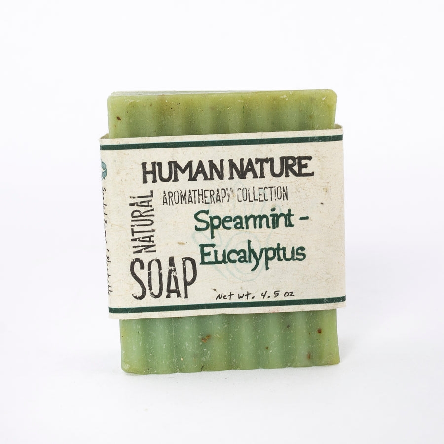 Spearmint Eucalyptus essential oil soap - human nature