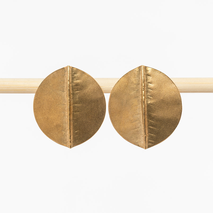 Brass Aspen Post Earrings