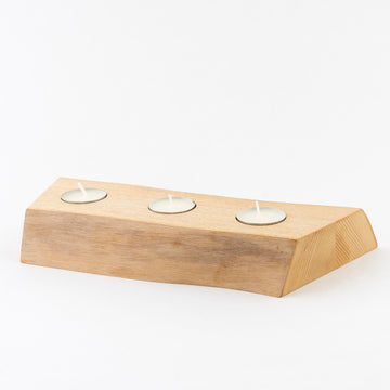 Solid Ash Candle Runner - 3 candle design