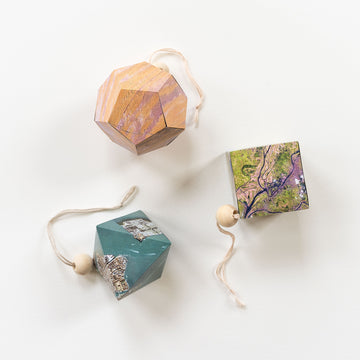 Geometric Map Ornaments