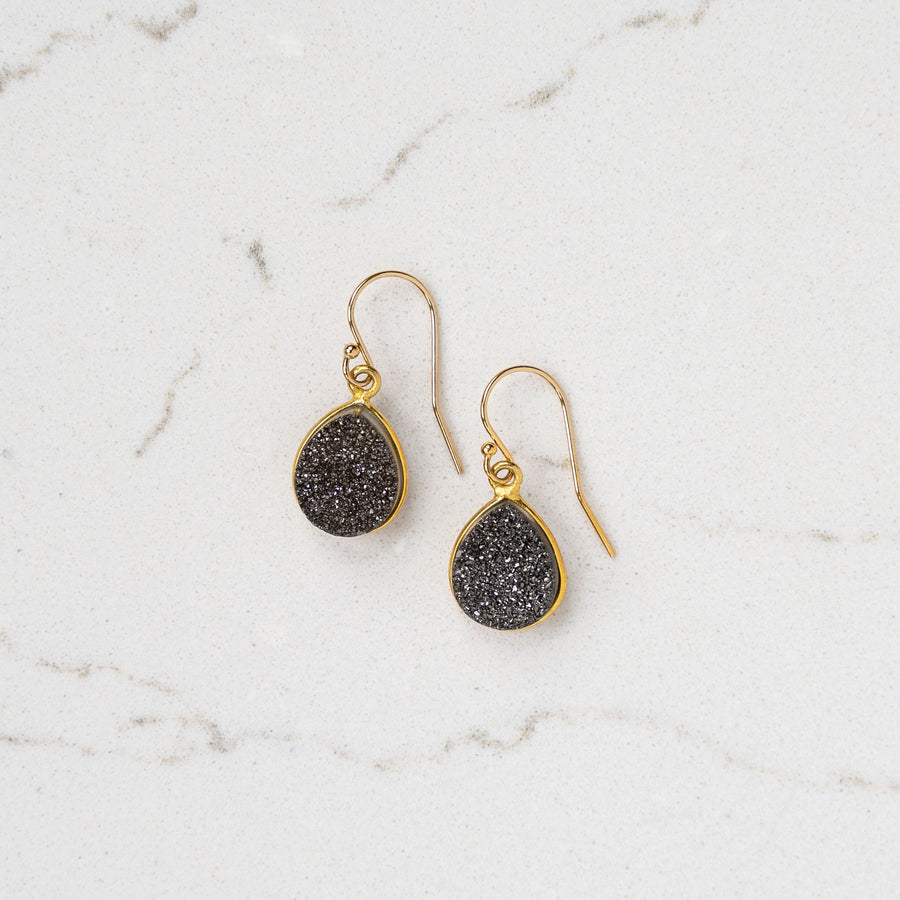 Charcoal Druzy Earrings