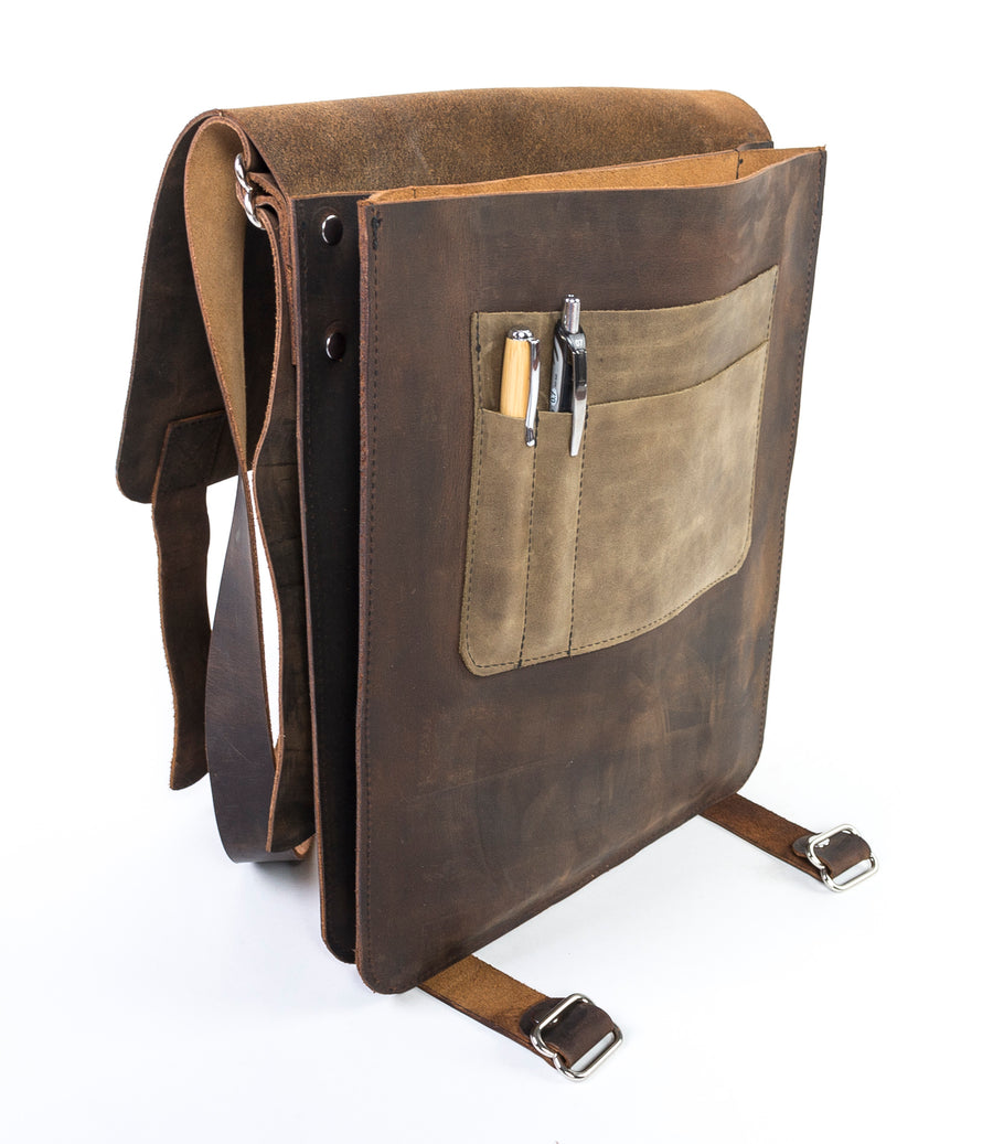 Is this the ultimate Leather Messenger Bag? - Handmade in Maine and fit for any setting.