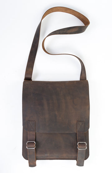 Leather Messenger Bag - The ultimate messenger bag handmade in Portland, Maine