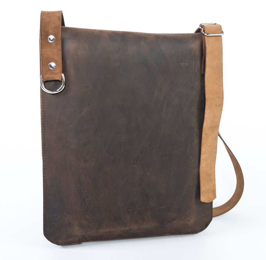 Leather Messenger Bag - rear view