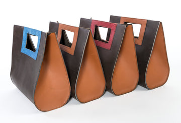 teardrop bags - leather - group shot - handbag - Wood.Stone.Bone
