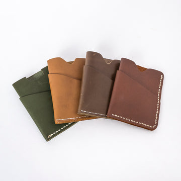 the brockman wallet solid leather group shot - minimalist wallets - wood.stone.bone. collection