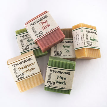 essential oil soap - naturally scented soap - collection shot - made in Maine