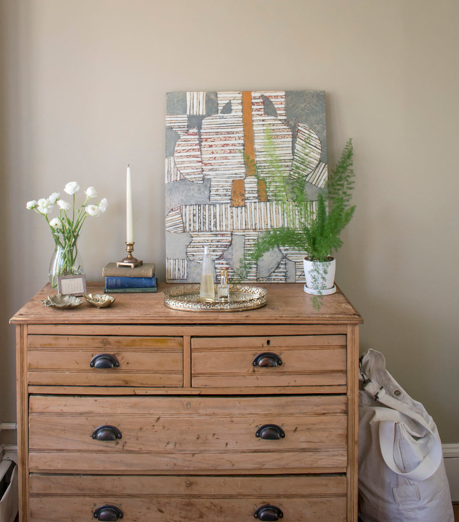 lifestyle: beckett street - mark little painting - Maine - vintage - mid century - home goods - decor - interior
