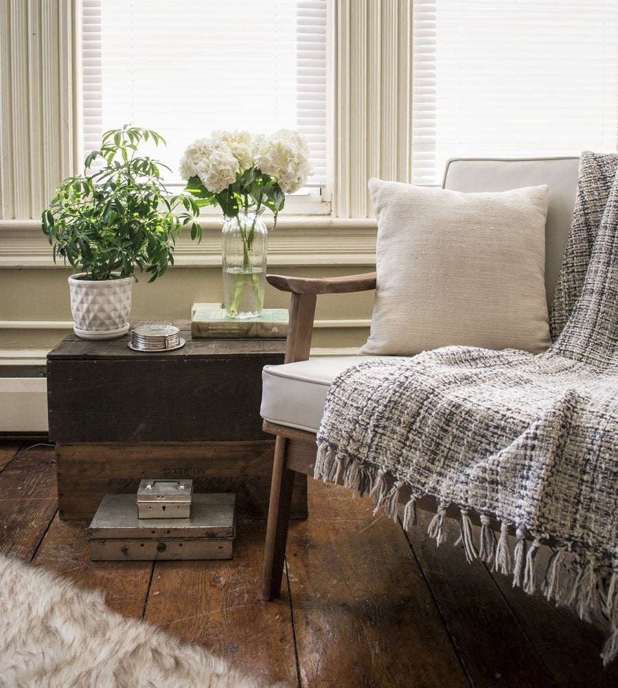 lifestyle: beckett street - photoshoot - home decor - made in Maine - portland - vintage - mid century - bed and bath