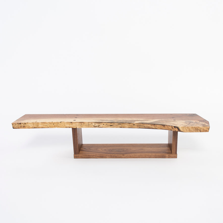 solid walnut wall shelf - handmade by Epaminondas Iacovou - Studio89 - language of trees