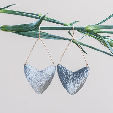 Textured Shield Earrings