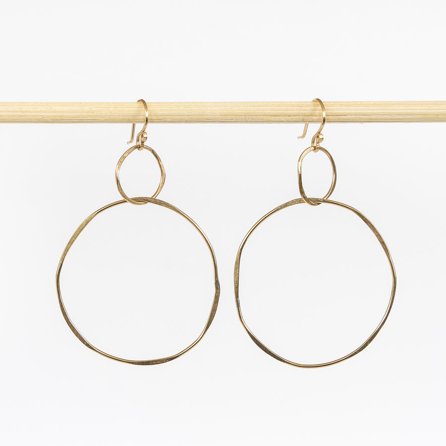 Double-stacked Hoop Earrings