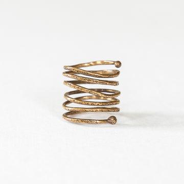 Textured Bronze Snakehead Ring