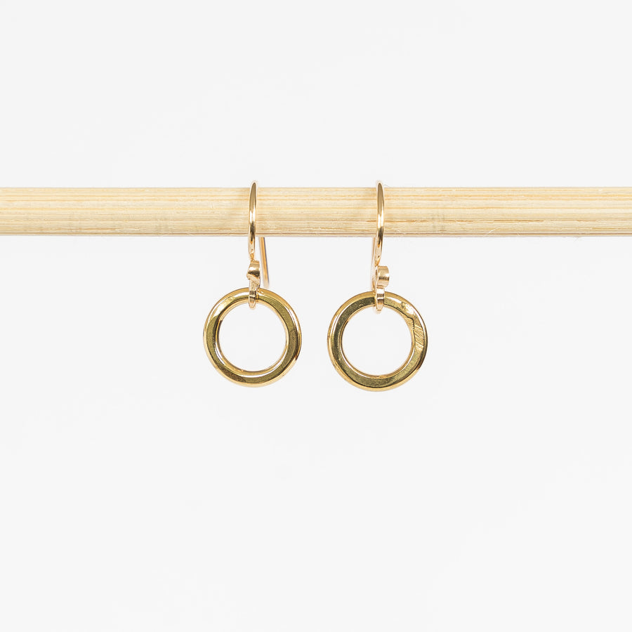 Brass Tiny Hoop Earrings