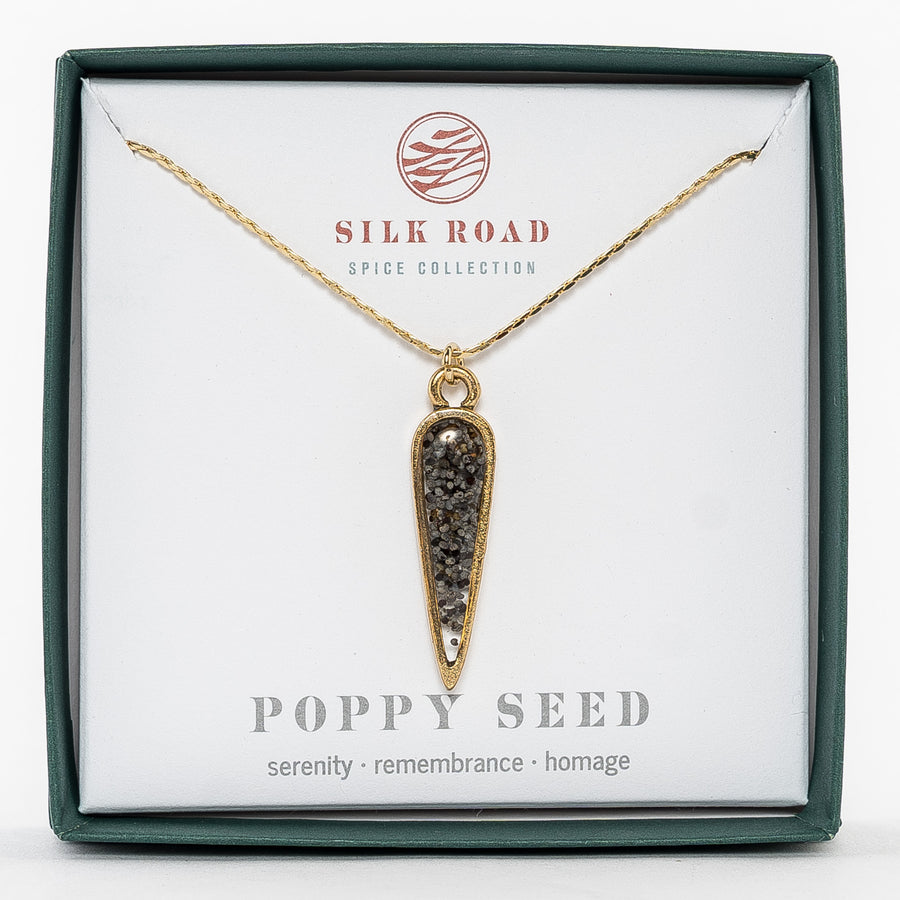 Ancient Drop Poppy Seed Necklace
