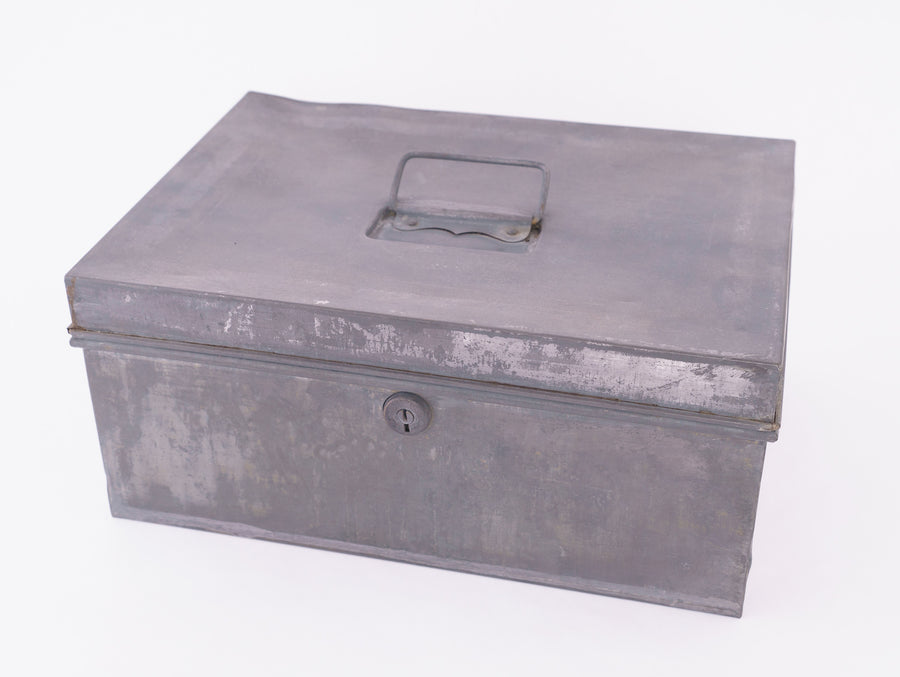 vintage tole box - large - storage container - decorative piece - found object - home goods - french