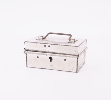 small tole box - key hole - product shot - french decor - home goods - kitchen storage - spice box
