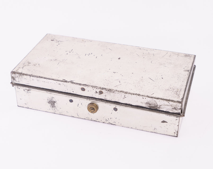 metal tole box - tool box - french design - decorative - bed and bath