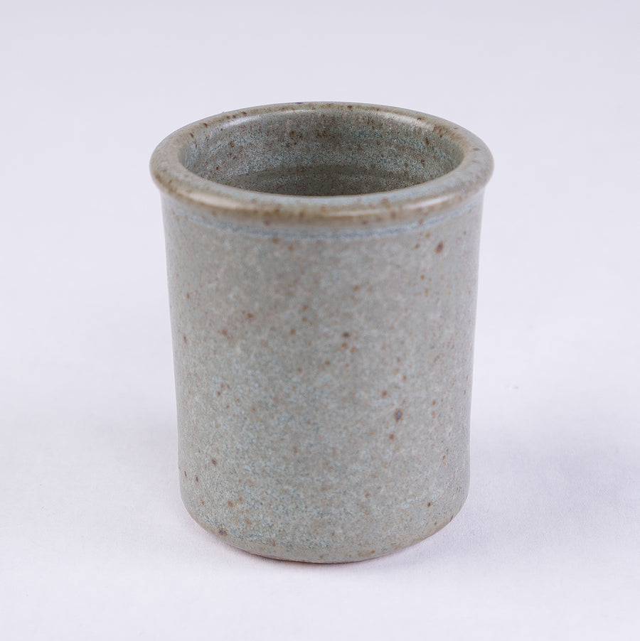 Stoneware Shot Cup in sage - bluff point collection - the shot glass reimagined