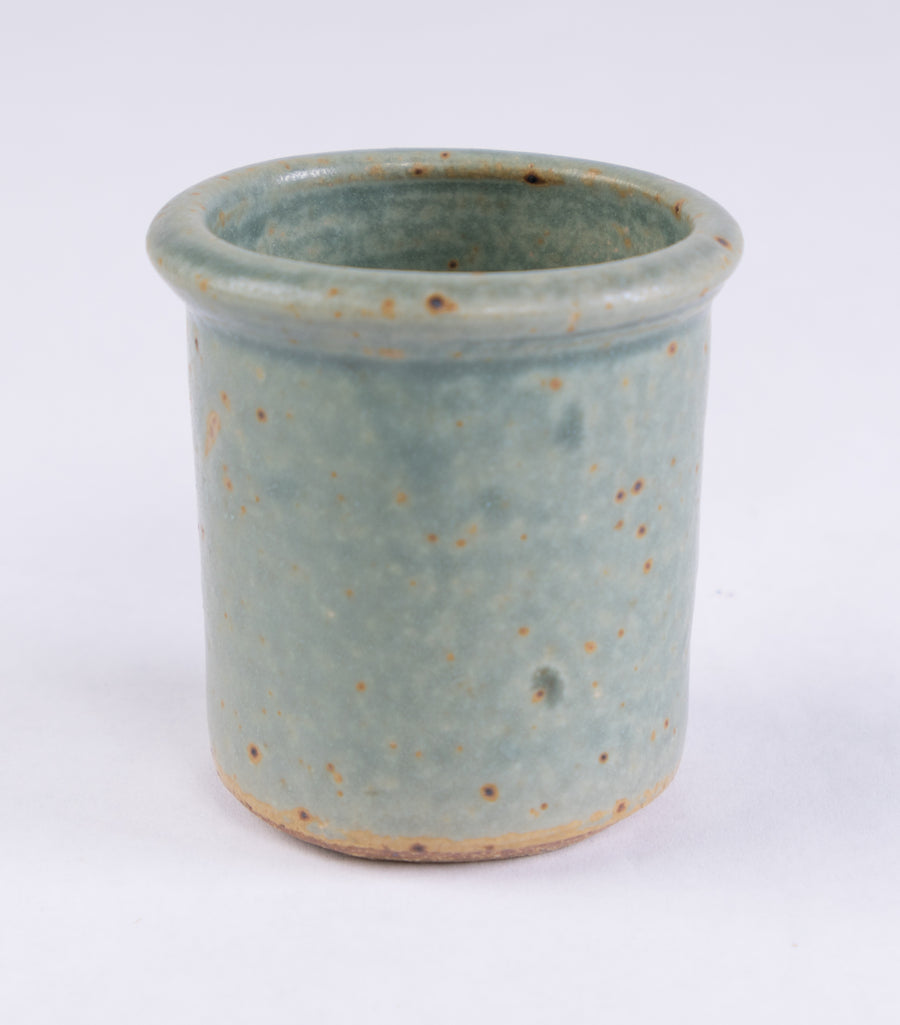 Stoneware Shot Cup in turquoise - pottery made in Maine - handmade kitchen ware - household goods