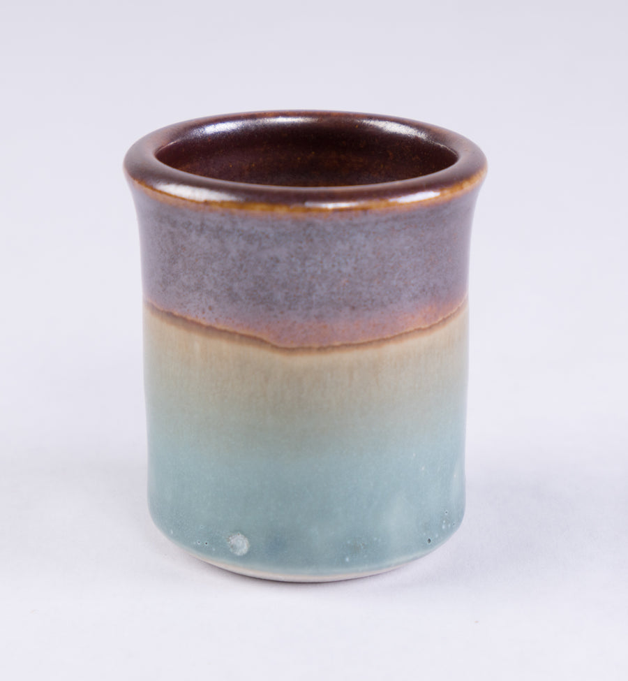 Stoneware Shot Cup in woodland - food safe glaze - pottery made in Maine