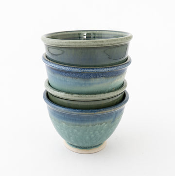 seascape noodle bowl - stoneware pottery - bluff point collection